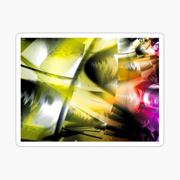 Yellow Machinery Abstract Art Sticker