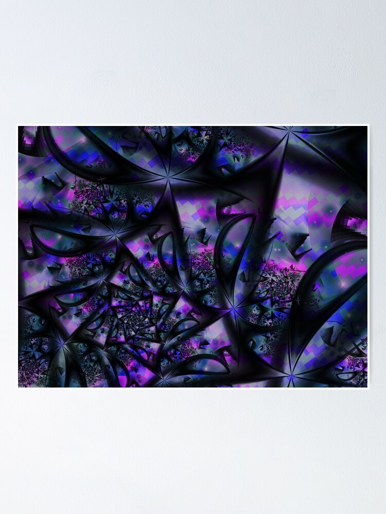 Alternate view of Purple Dreams Abstract Poster