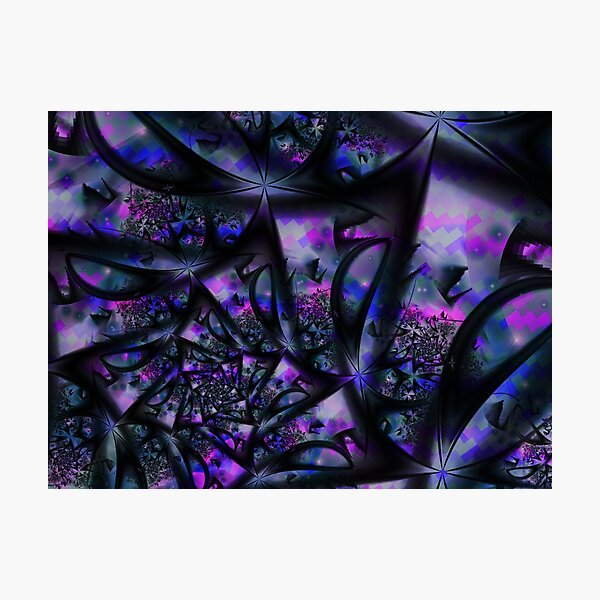 Purple Dreams Abstract Photographic Print