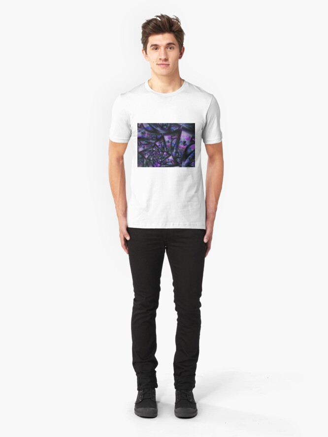 Alternate view of Purple Dreams Abstract Slim Fit T-Shirt