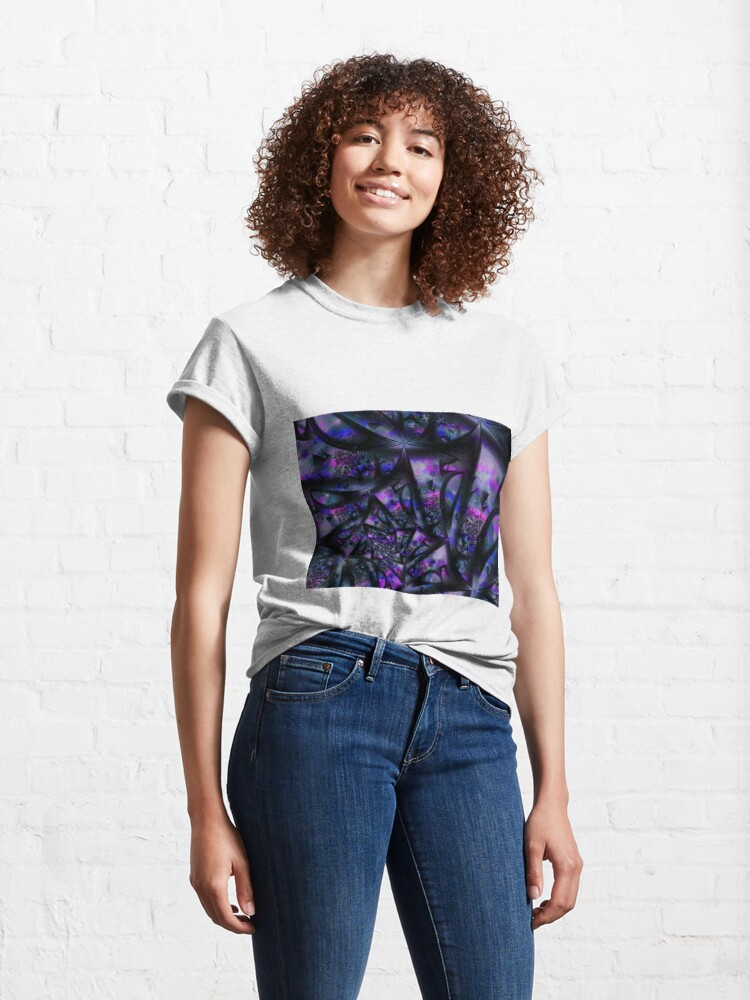 Alternate view of Purple Dreams Abstract Classic T-Shirt