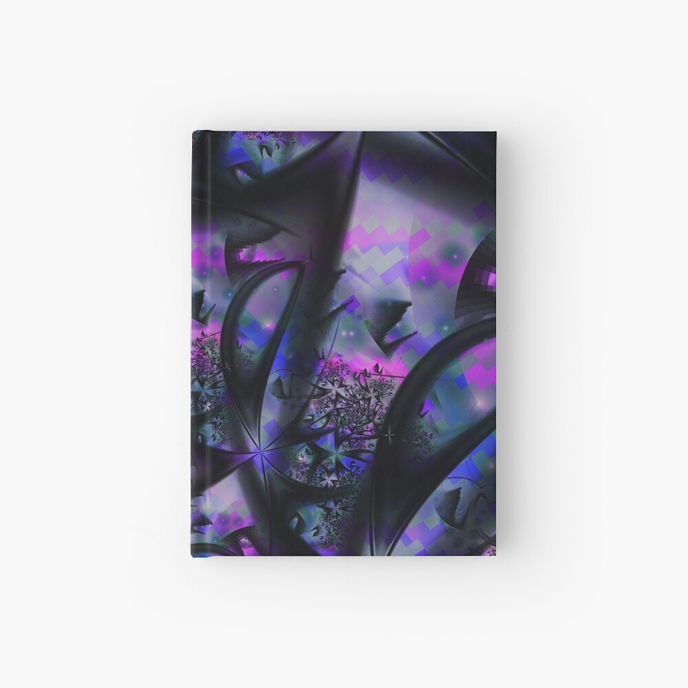 Purple Dreams Abstract Hardcover Journal