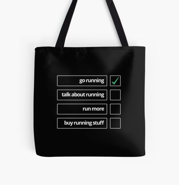 Running to-do list All Over Print Tote Bag