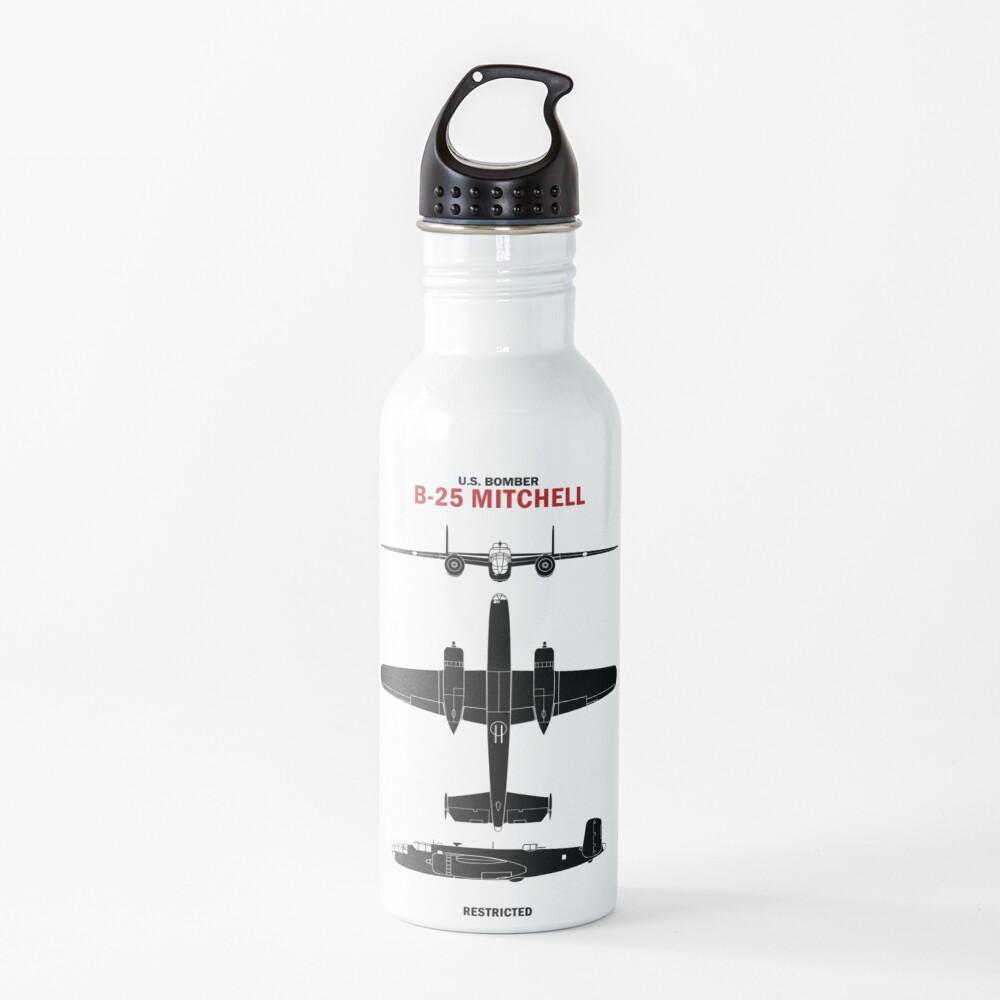 WW2 B25 Mitchell Identification Water Bottle