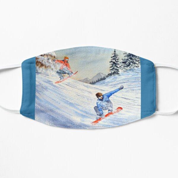 Snowboarders Shreddin' The Gnar  Flat Mask
