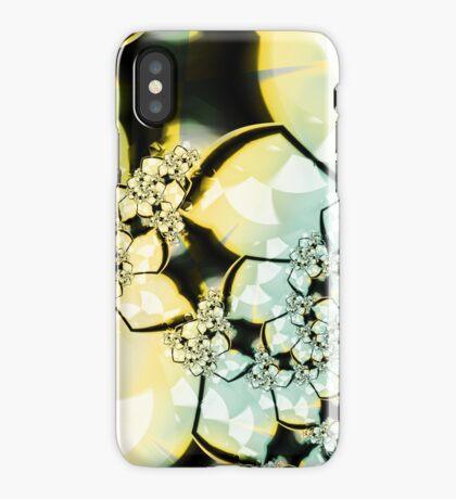 Yellow Green Flower Art iPhone Case