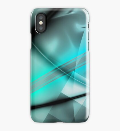Blue Minimalist Art iPhone Case