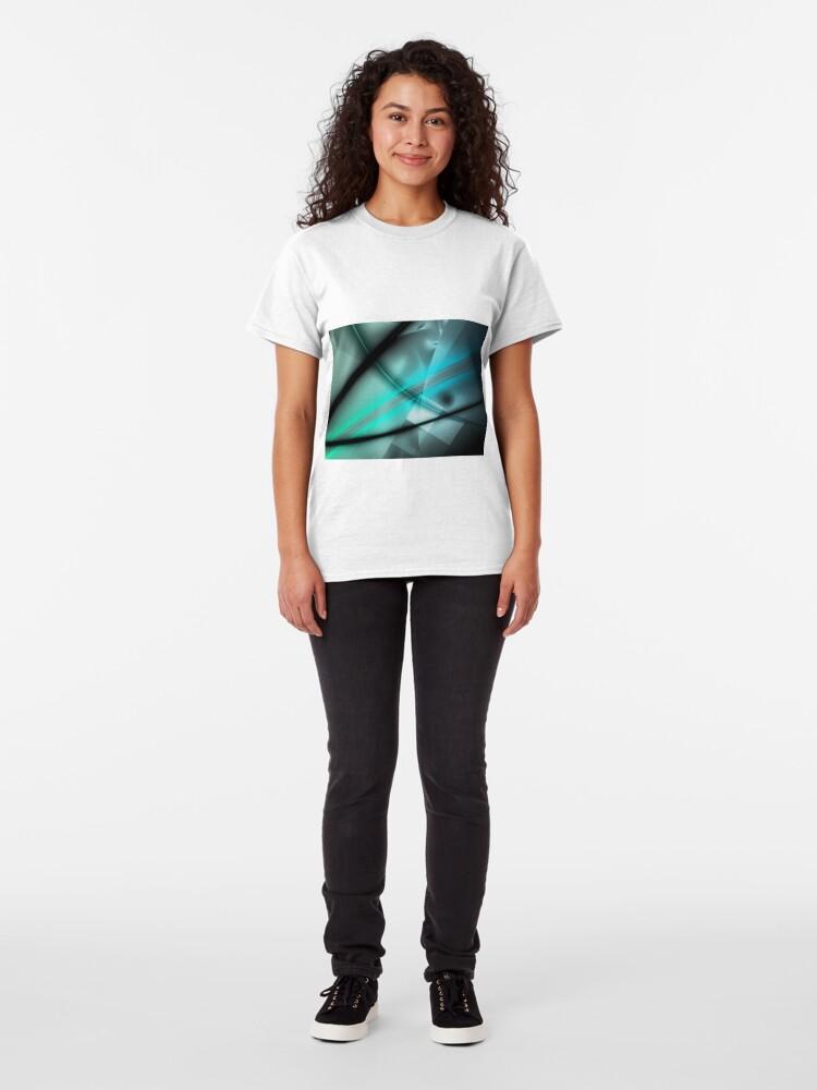 Alternate view of Blue Minimalist Art Classic T-Shirt