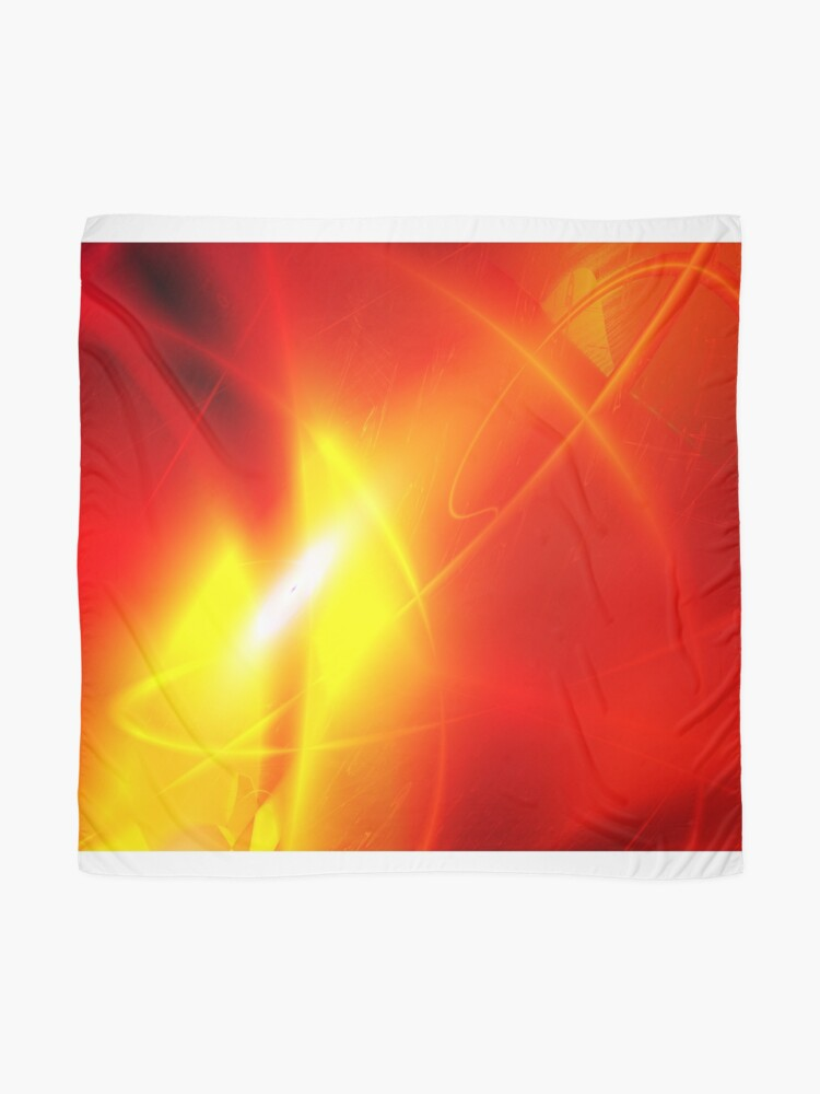 Alternate view of Fire Conceptual Art Scarf