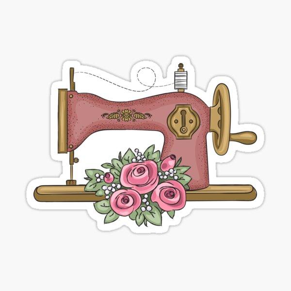 Máquina de coser vintage Pegatina