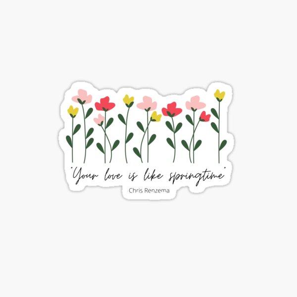 Chris Renzema Springtime Sticker