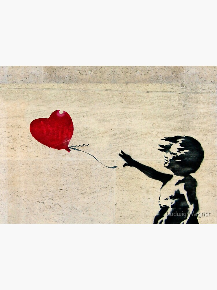 Banksy's Girl with a Red Balloon III by zuluspice