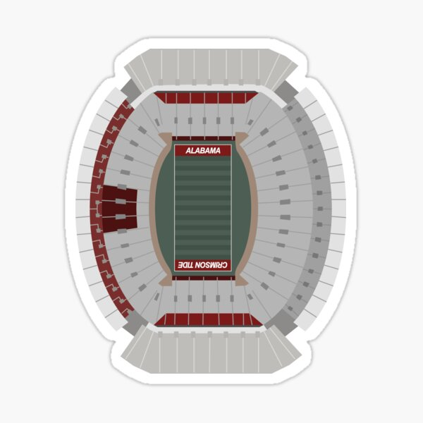 Bryant-Denny Stadium, University of Alabama, Football Sticker