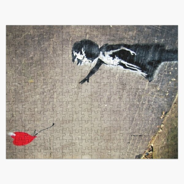 La fille de Banksy avec un ballon rouge II Puzzle
