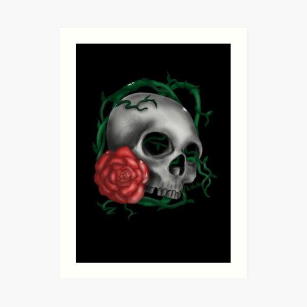 Floral skull Art Print