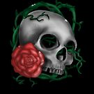 Floral skull by Marika Schulze