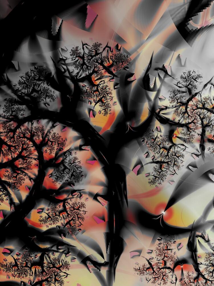 Fractal Forest - Tree Art by garretbohl