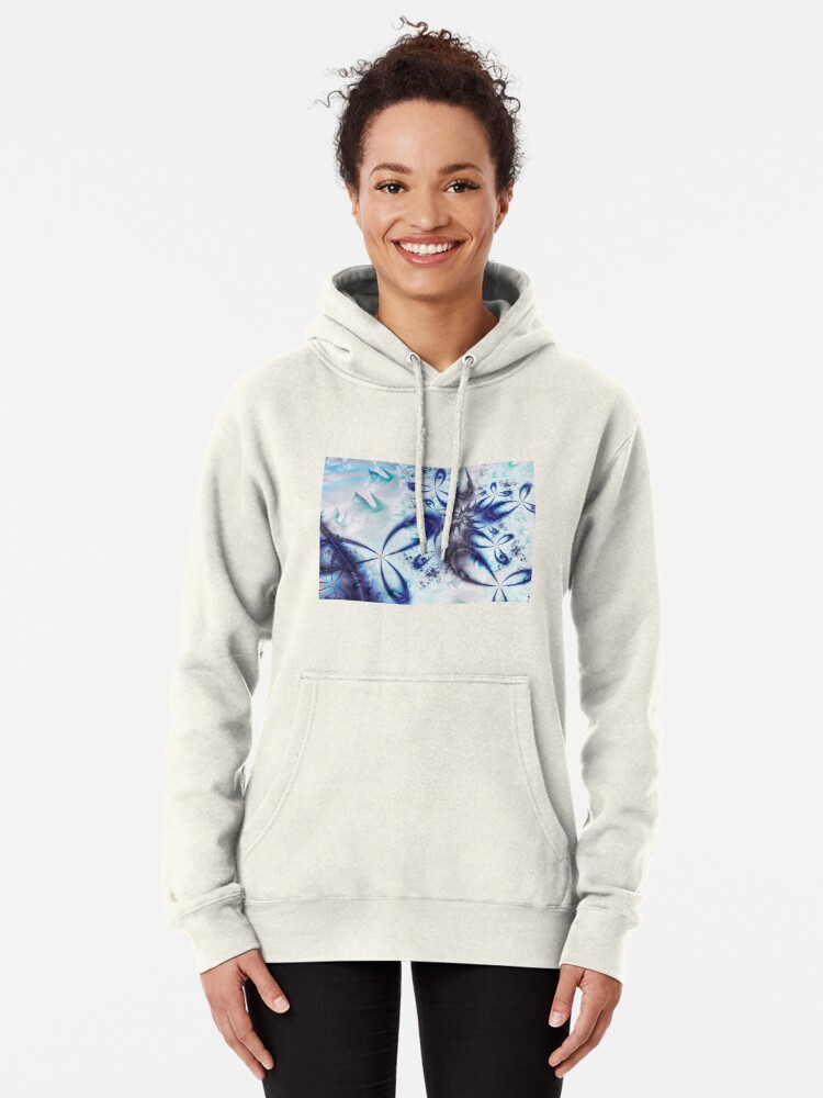 Alternate view of Ice Spiral  Pullover Hoodie