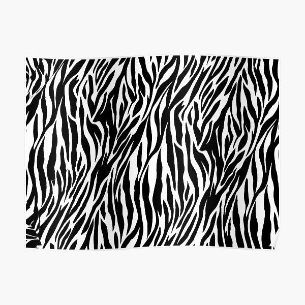 Zebra skin Poster