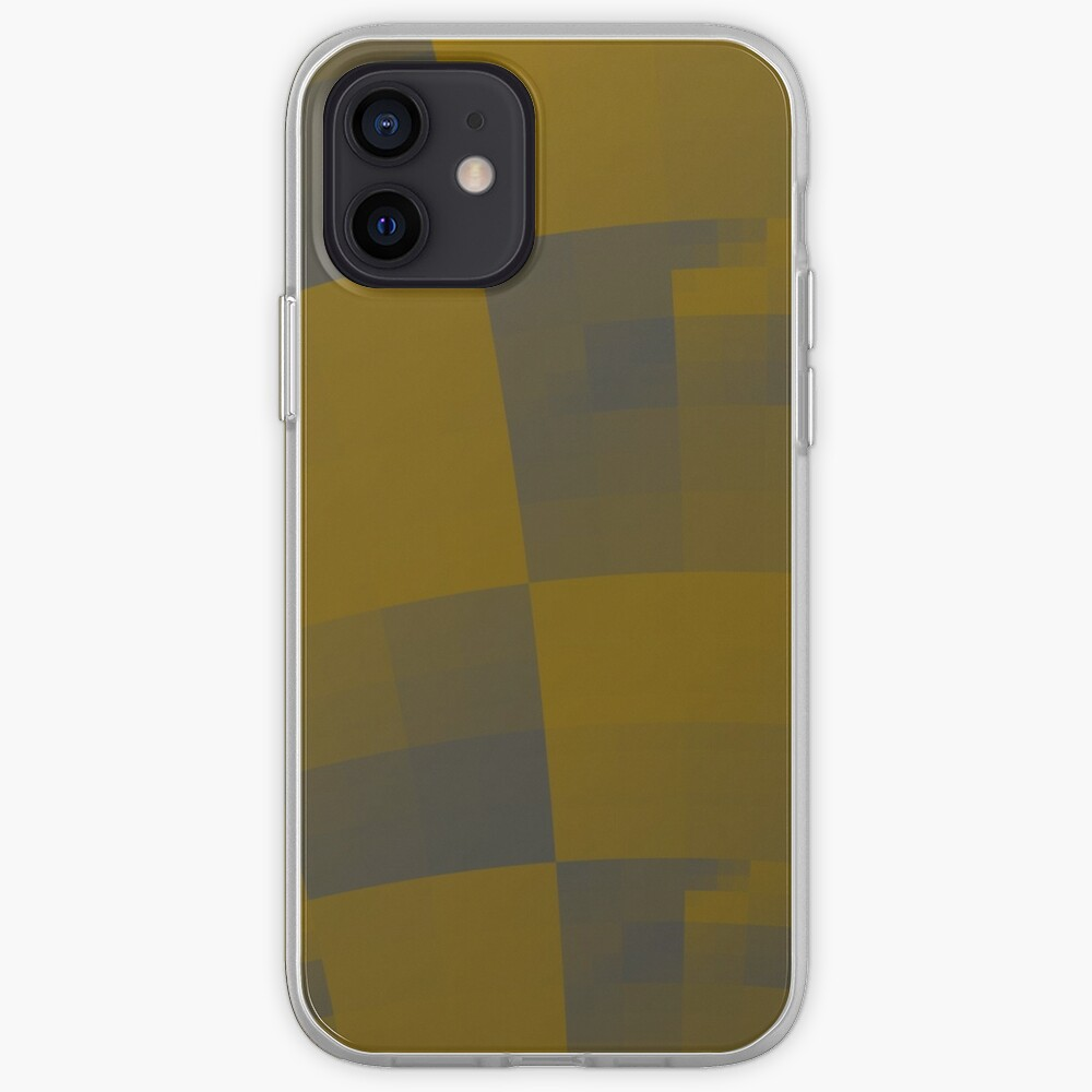Squares Abstract Pattern Brown iPhone Case & Cover