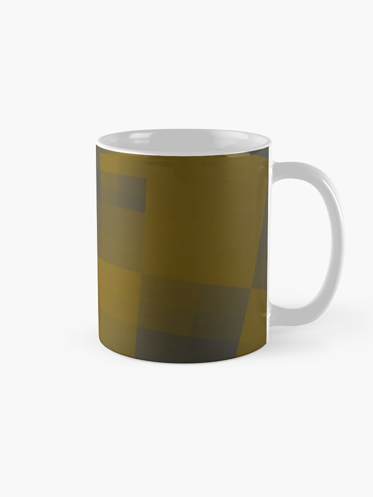 Alternate view of Squares Abstract Pattern Brown Mug