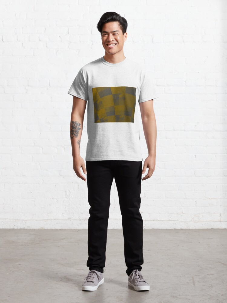 Alternate view of Squares Abstract Pattern Brown Classic T-Shirt