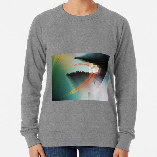 Multi-Color Abstract Symbol Lightweight Sweatshirt