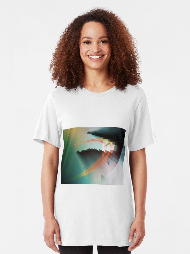 Alternate view of Multi-Color Abstract Symbol Slim Fit T-Shirt