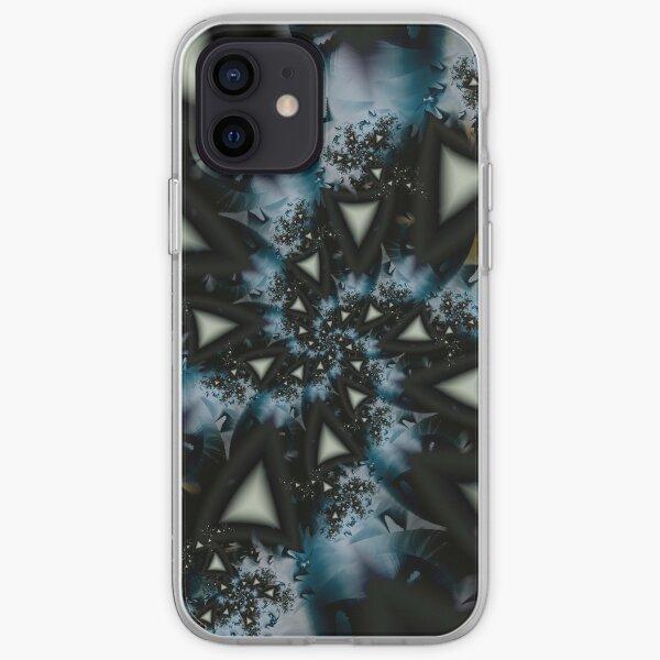 Blue White Triangle Spiral iPhone Soft Case