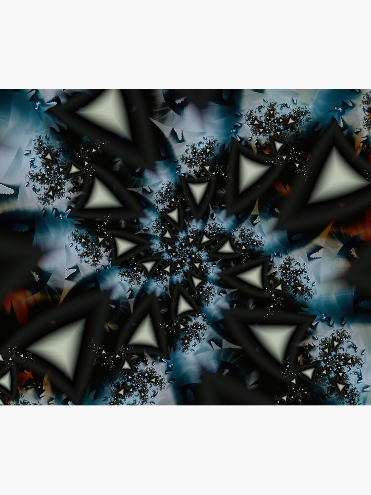 Blue White Triangle Spiral by garretbohl