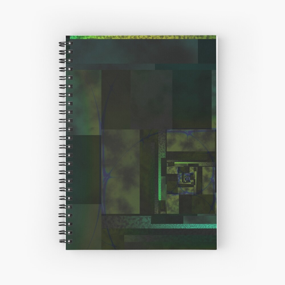 City Abstract Dark Blue / Marble Spiral Notebook