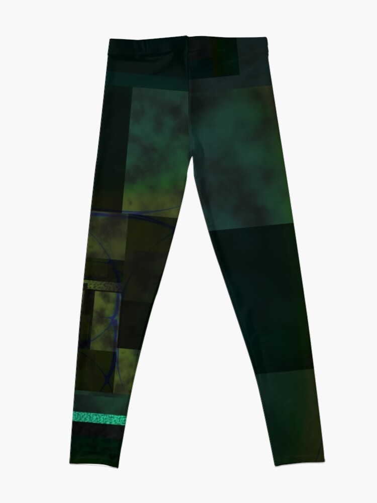 Alternate view of City Abstract Dark Blue / Marble Leggings