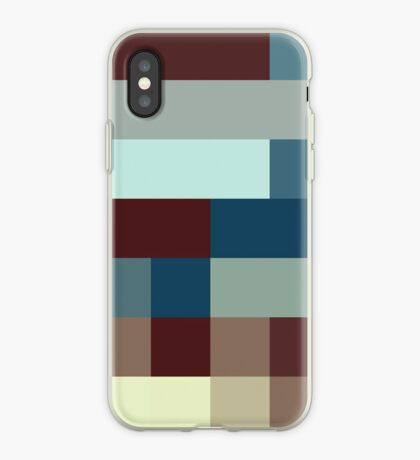 Checkered Pattern Design Brown Blue Tan iPhone Case