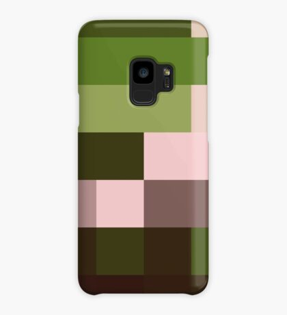 Checkered Pattern Green Brown Pink Case/Skin for Samsung Galaxy