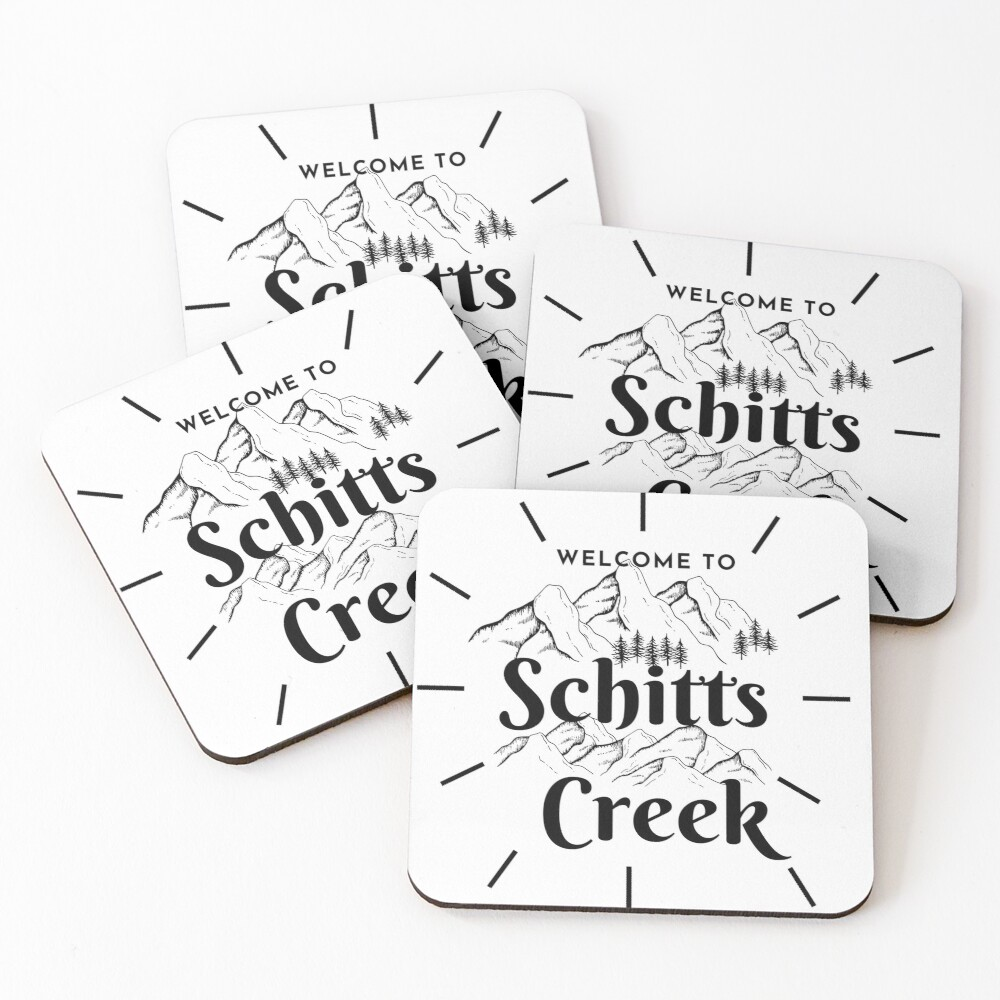 Schitts creek-welcome to schitts creek Coasters (Set of 4)