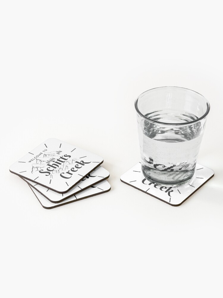 Alternate view of Schitts creek-welcome to schitts creek Coasters (Set of 4)