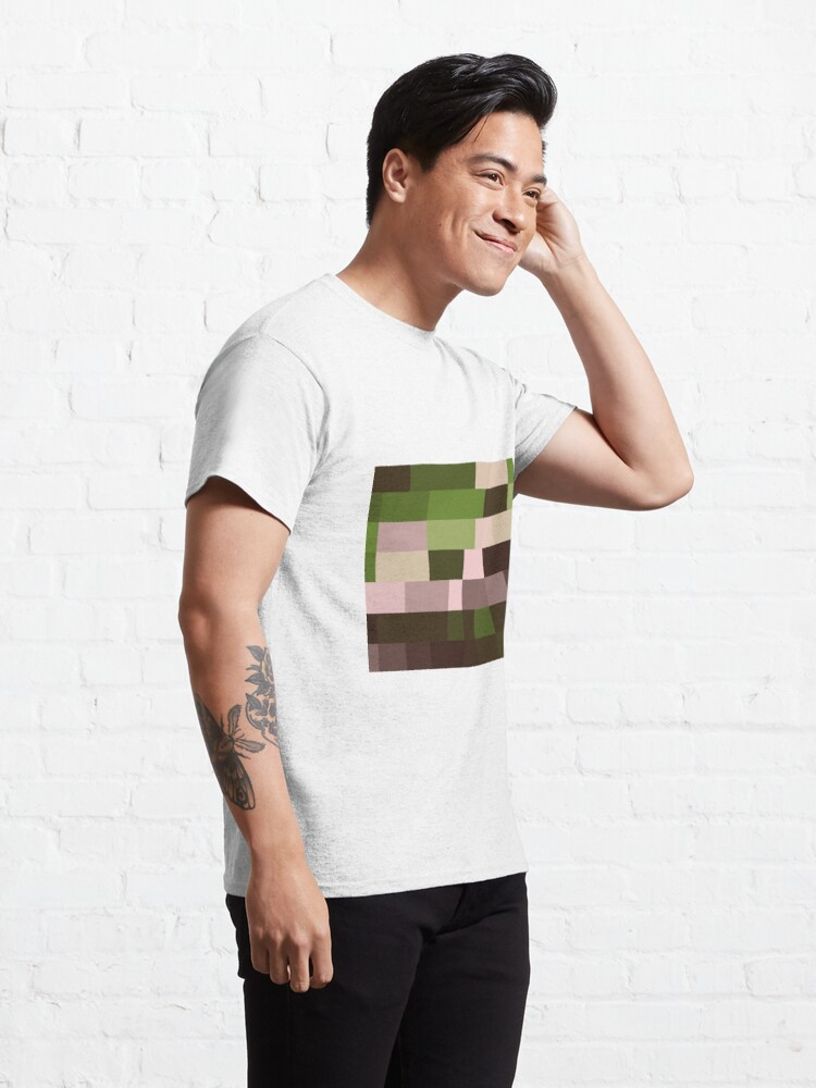 Alternate view of Checkered Pattern Green Brown Pink Classic T-Shirt