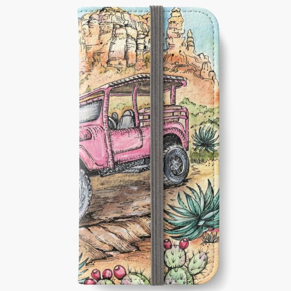 Pink Jeep  iPhone Wallet