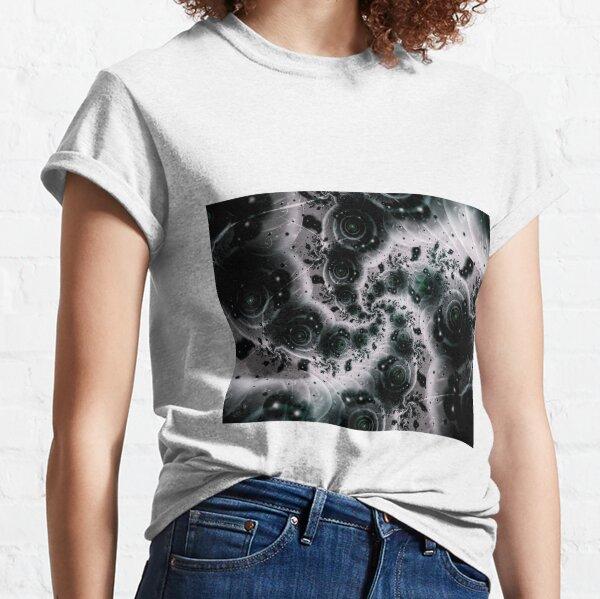 White Spiral Futuristic Art Classic T-Shirt