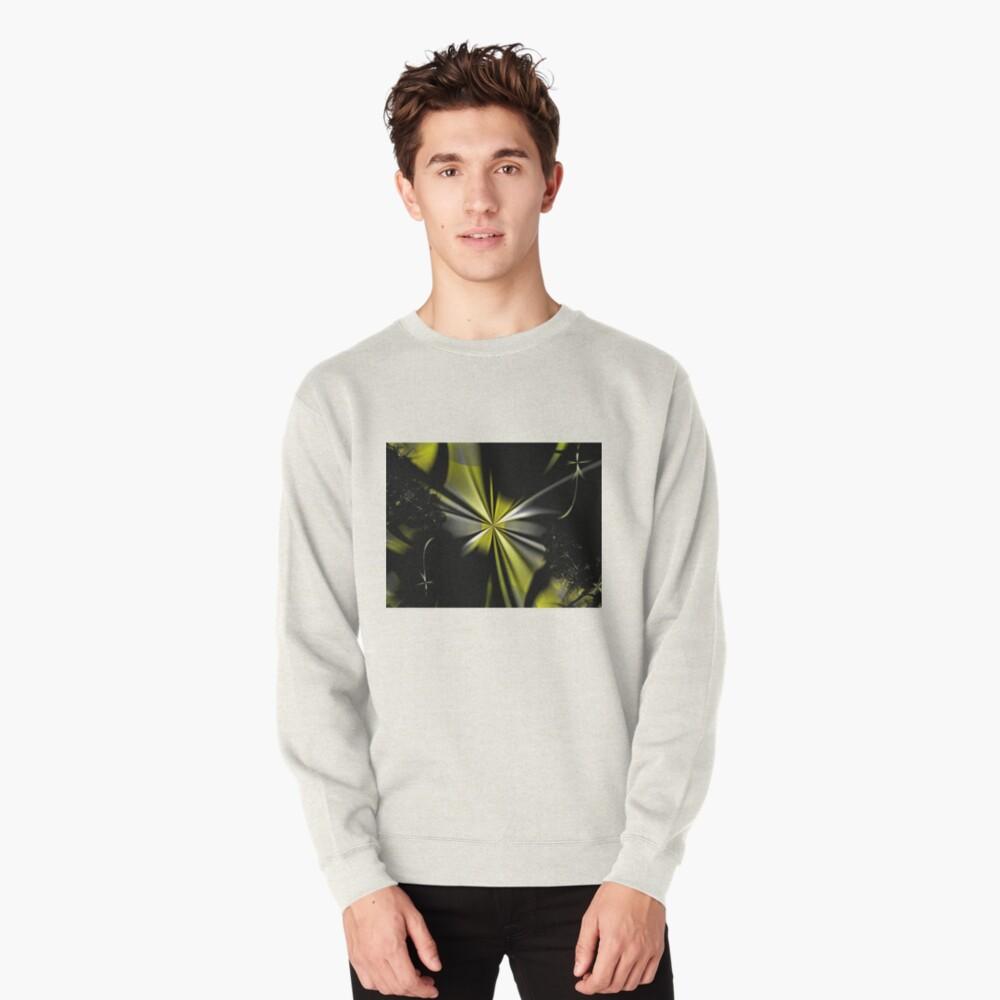 Yellow Flower Abstract Pullover Sweatshirt