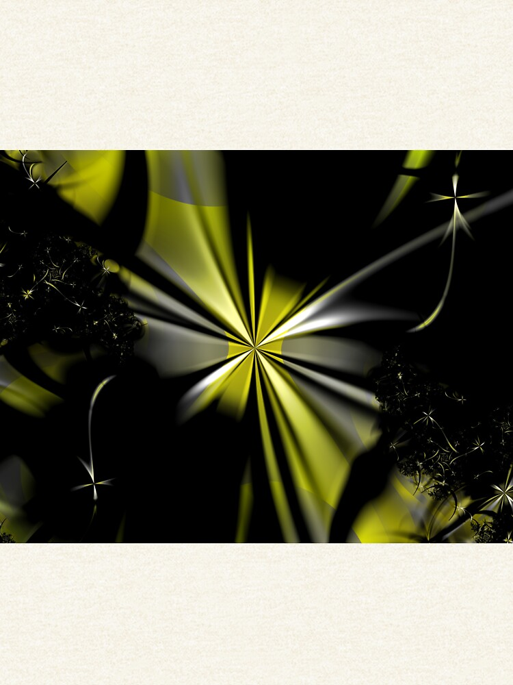 Yellow Flower Abstract by garretbohl