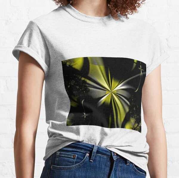 Yellow Flower Abstract Classic T-Shirt