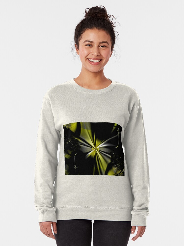 Alternate view of Yellow Flower Abstract Pullover Sweatshirt