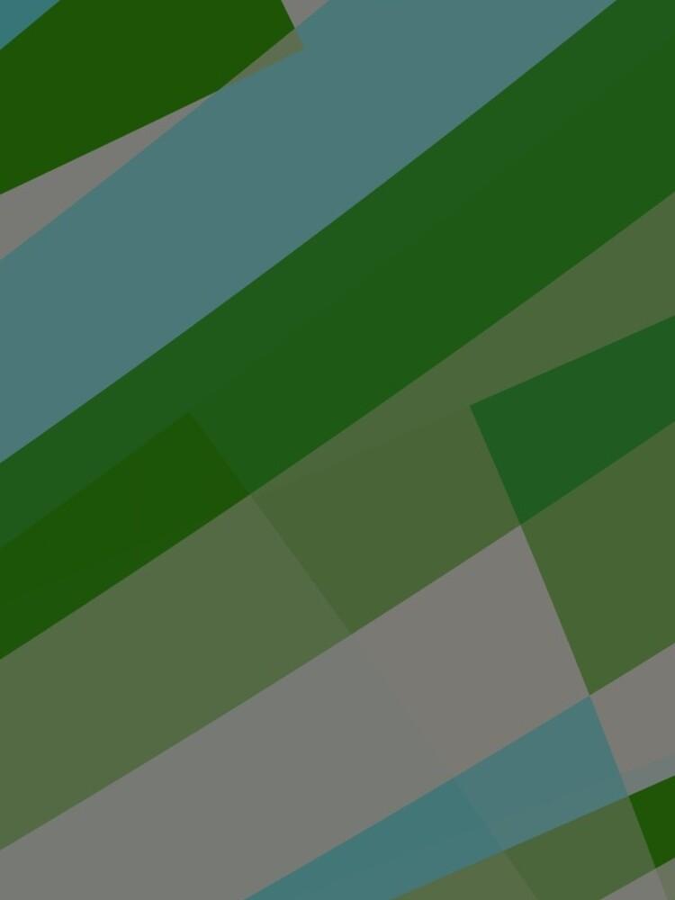 Leopard Zebra Pattern Green Blue Gray by garretbohl