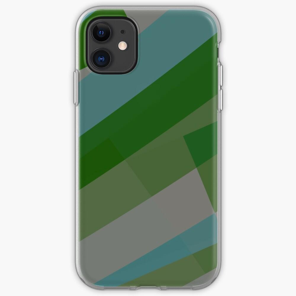 Leopard Zebra Pattern Green Blue Gray iPhone Case & Cover