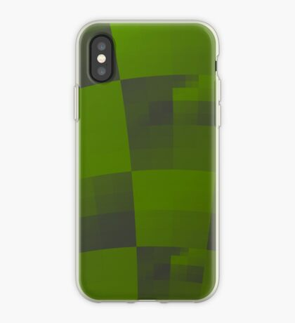 Green Squares Pattern Design iPhone Case