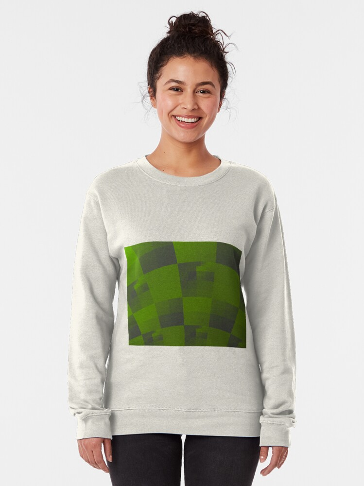 Alternate view of Green Squares Pattern Design Pullover Sweatshirt