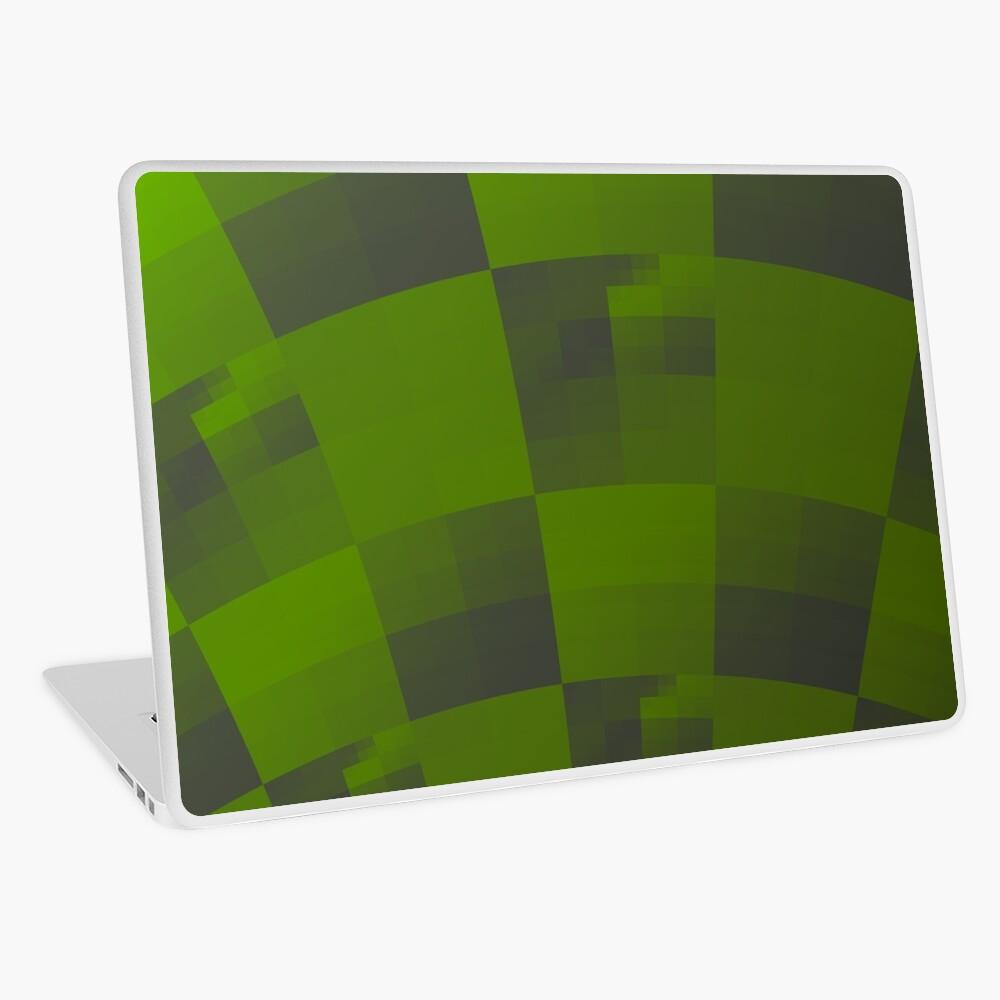 Green Squares Pattern Design Laptop Skin