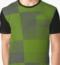 Green Squares Pattern Design Graphic T-Shirt