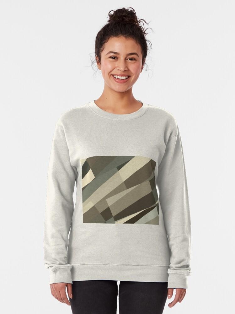Alternate view of Camo Leopard Zebra Stripes Pattern  Pullover Sweatshirt